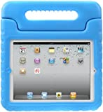 Evecase iKiz Multi Function Child / Shock Proof Kids Cover Case with Stand / Handle for Apple iPad 2nd / 3rd / 4th Generation Tablet (iPad 2/3/4, Blue)