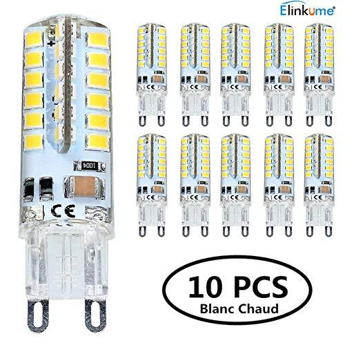 240v 320lm Économie 48 5w 300 Ampoule Chaud Elinkume Super Spot Blanc 3 2835 G9 D'énergie Ac200 Led Lumineux 10x Smd Bulb À 5qS4Ac3RjL