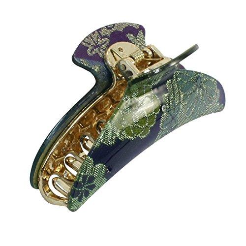 sourcingmap® Pince à cheveux motif fleurs en plastique à 20 griffes vert doré bleu