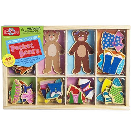 Bears Holz magnetisch dress-ups Kostüm (Ups Kleinkind Kostüm)