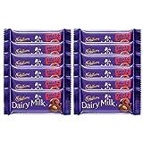 #6: Cadbury Dairy Milk Fruit and Nut Chocolate Bar, 36g (Pack of 12)