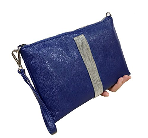 Clutch In Pelle Ms. Blue