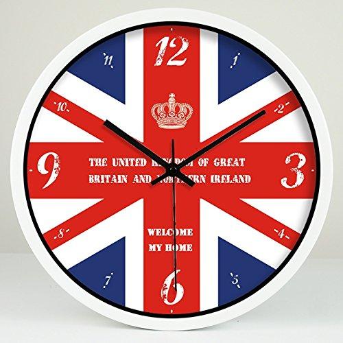 Vinteen creatività orologio digitale britannico orologio rotondo camera da letto per bambini orologio da parete hotel engineering orologio e orologi horologe orologi al quarzo cronometro ( color : white , dimensione : 30cm in diameter )