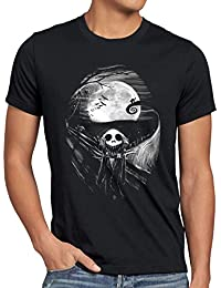 style3 Munch Nightmare T-Shirt Homme Étrange jack skellington cri monsieur de noël