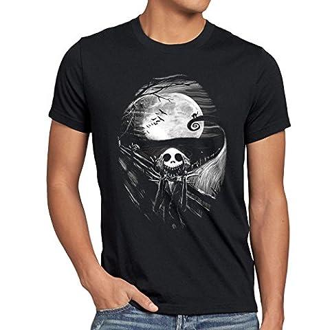style3 Munch Nightmare Herren T-Shirt jack skellington schrei christmas before weihnachten edward, Größe:S