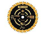 DeWalt Kreissägeblatt (für Handkreissägen ohne Spaltkeil, Sägeblatt-ø 184/16, 24WZ, für universellen Einsatz) DT10302