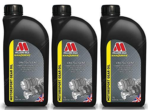 Millers Oils CRX 75w140 NT+ - Olio di Trasmissione Completamente Sintetico, 3 Lit