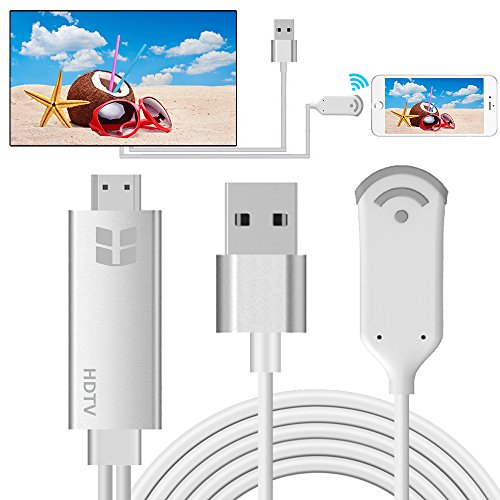 Wireless Display Dongle, HuiHeng WiFi Wireless HDMI Display Adapter 1080P HDTV Adapter, Unterstützung DLNA & Miracast & AirPlay Spiegelung Bildschirm für iOS Android Smartphones Wiondows MacOS Laptops (Smartphone-hdtv Smart Adapter)