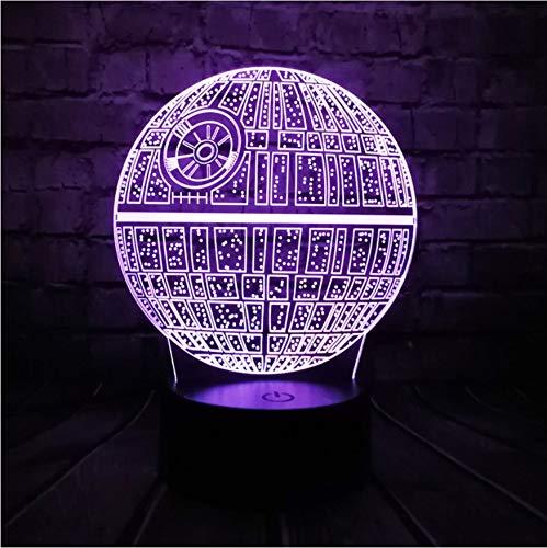 Nachtlichter Heißer Verkauf Film Wars 3D Usb Led Lampe Astro Cartoon Todesstern Bunte Ball Birne Atmosphäre Lava Nachtlichter Beleuchtung Geschenke