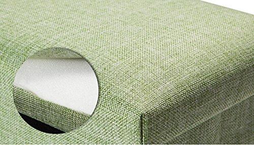 Jcrnjsb divano sgabello rettangolo arte del tessuto sgabello per