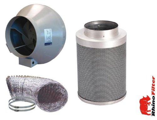 Systemair-Rhino Grow Raum RVK Lüfter und Rhino Carbon Filter A1200mm Kit 200 Mm Kit