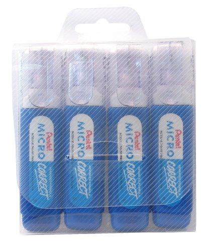 pentel-micro-correct-12-ml-correction-pen-wallet-of-4