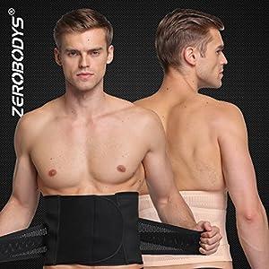 Ning Erica Herren Einstellbar Rückenstütze Bauchbinden Abnehmen Taillentrimmer Shapewear