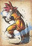 "Poster Dragon Ball ""Wanted"" Goku SSG - A3 (42x30 cm)"