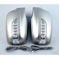 Sorento hasta 09 LED Espejo lateral Espejo Carcasa Izquierda/Derecha Plata Tuning