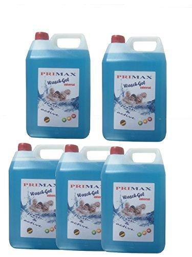 5 x 5 Liter Primax Flüssigwaschmittel blau Waschmittel