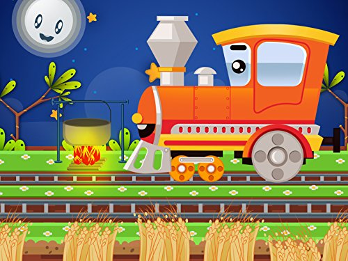 The hardworking Trains collect wheat Night Cups