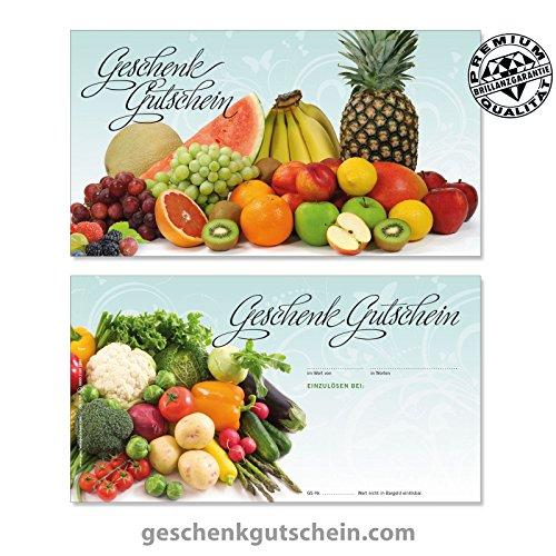 """25 Stk. Gutscheinkarten """"Standard"""" für Obst- und Gemüsehändler OG1701, LIEFERZEIT 2 bis 4 Werktage !"""