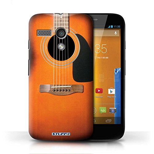 Hülle Case für Motorola MOTO G (2013) / Sunburst Electric Entwurf / Gitarre Collection Sunburst Akustik