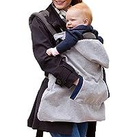 TININNA Multifonctionnel Housse de Protection Porte-Bébé Echarpe Baby Wrap Transporter Couverture Coupe-Vent avec Manteau à Capuche