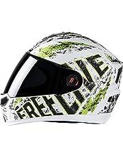 Steelbird SBA-1 Free Live Matt White with Green with Smoke visor