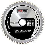 Saxton - Disco de TCT de corte fino para sierra radial inalámbrica de 165 mm y 48 dientes