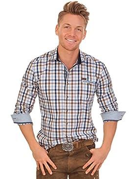 Trachtenhemd mit langem Arm - EMERALD - blau