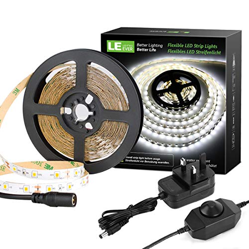 LE 5M LED Strips Lights with Power Supply, 2835 LED Tape Light