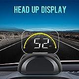 HUD Head up Display Pantalla OBD2 EUOBD LCD 3,5' Pantalla Mostrar Sensor de luz Luces Decorativas mph/KMH RPM Icono Temperatura del Agua Voltaje Solo Analizado[Clase de Energía A + + +]