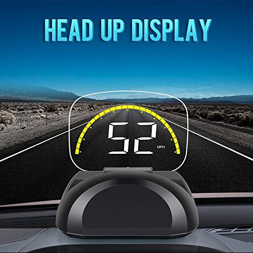 HUD Head up Display Pantalla OBD2 EUOBD LCD 3