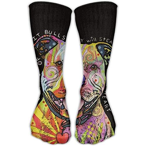 Caps big Pit Bull Dog Unisex Nursing Travel Sport High Socks Cotton Dress Sock 11.8 Inch -
