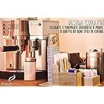 FMC-Solution-Porta-Accessori-da-Caff-e-Tea-in-Bamb-per-Zucchero-in-Bustine-Palette-Bicchieri-e-Tovagliolini-di-Carta-Organizer-da-Tavolo-con-Piedini-Antiscivolo-per-Casa-e-Ufficio