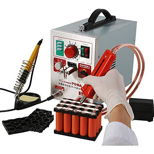 Hanchen Punktschweißgerät 1.9kw Akku Schweißgerät LED Pulse Spot Welder 709 A für 18650 16430 14500 Batterie 220V