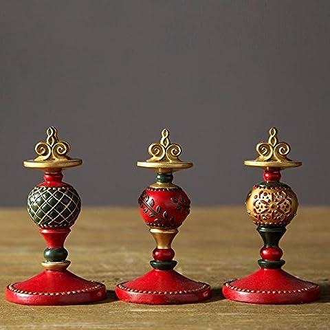 LQK-Resina rossa palla carte cancelleria nuova decorazione di nozze , 6.8*6.8*11.5cm