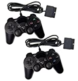 2x Controller für PS2 Playstation 2 Dual Vibration, wired Gamepad kabelgebunden -