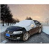 Auto Scheibenabdeckung Eisschutzfolien, 2win2buy Halbgarage Auto Hülle Schutzhülle Autoschutzdecke für Winter & Sommer Wetterfest Regenschutz Schneedicht 240x180x150cm, Grau