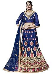 Royal Blue Net Embroidered Designer Lehenga