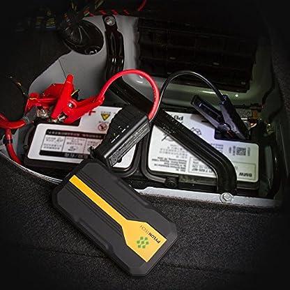 510aACpt77L. SS416  - Homelody Arrancador Coche 13600mAh ,500A Jump Starter para la coche 4.0L Gasolina y 2.0L Diesel,Cargador Batería &Power Bank con Puerto de USB y La Linterna LED para Teléfono Móvil y Tableta