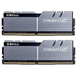 G. Skill F4–3200C15d-32gtzsk 32GB (2x 16GB) DDR4Trident Z 3200MHz PC4–25600CL15Dual Channel Kit, colore: argento/nero