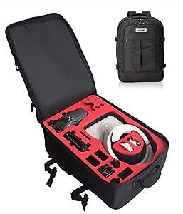 Sac à dos pour DJI googles (montées) et DJI Mavic avec un espace pour 4 batteries et accessoires fait pour MC Cases - Made in Germany