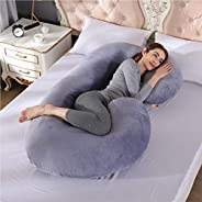 DAYONG Pregnancy Body Pillows with Jersey Cover, C Shaped Full Body Maternity Pregnant Pillows for Pregnant Wo