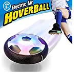 Hover Ball - Maxesla Air Hover Calcio con LED Luce, Air Power Soccer Disc da Allenamento in Schiuma Morbida Paraurti per Indoor & Outdoor, Giocattoli Sportivi per Bambini Regalo Fantastico