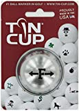 TIN CUP. GOLF BALL MARKER SYSTEM. ALPHA PLAYERS SERIES. LETTER F