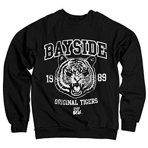Saved By The Bell Offizielles Lizenzprodukt Bayside 1989 Original Tigers Sweatshirt (Schwarz) Medium -