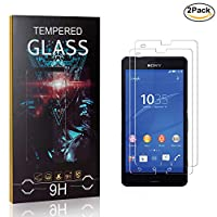 MoKiin Tempered Glass Screen Protector for Sony Xperia Z3 Compact, Anti Fingerprint, 9H Hardness Tempered Glass, Bubble Free Screen Protector Film, 2 Pack