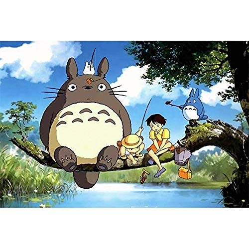 WYF's Puzzle Puzzle Mein Nachbar Totoro Japanische Cartoon Anime Holzpuzzle, 500/1000/1500 Teile Lernspielzeug Dekor, 8 Jahre und älter P707 (Color : D, Size : 500pc)