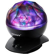 SOAIY® Lámpara cambios multicolores al igual que aurora polar, con altavoz, ángulo ajustable , para mejorar sueño y dar ambiente a unisex especial niño