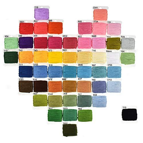 Garosa Stickset Komplettes Stickset Starter Kit Stickpackung enthält 50 Farblinien Stickzubehör