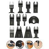 BABAN 12tlg Sägeblätter Zubehör Multi-Tool Multifunktionswerkzeuge Set Multitools Werkzeug für Fein Multimaster Makita Bosch