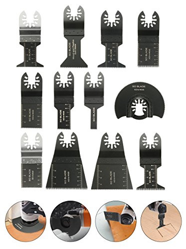 12tlg Sägeblätter Zubehör von Baban Multi-Tool Multifunktionswerkzeuge Set Multitools Werkzeug Elektrische Werkzeuge Für die meisten Modelle Test